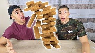 JENGA CHALLENGE !!! | PrankBrosTV