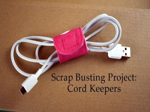Fabric Scrap Buster Project: Cord Keepers