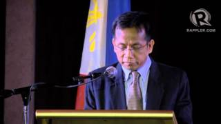Balisacan reads Aquino speech