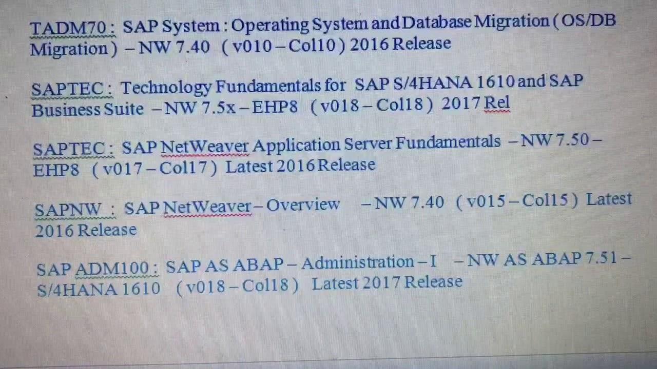 Sap Basis Certification Material Pdf