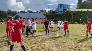CM BIREN and his Ministers playing football at Tamenglong today.