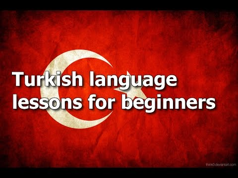 Turkish language lesson 1
