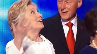 Hillary Clinton enjoys balloons