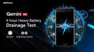 Ulefone Gemini Pro - 4-hour Heavy Battery Drainage Test