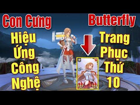 [Gcaothu] Garena chơi lớn ra mắt Butterfly Asuna Tia Chớp - Thay đổi diện mạo và kĩ năng