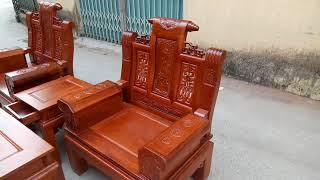 Bộ ghế Âu Á gỗ hương đỏ (hương ta hương thơm) Đồ gỗ Hưng thịnh 0941424442 - 0983735596