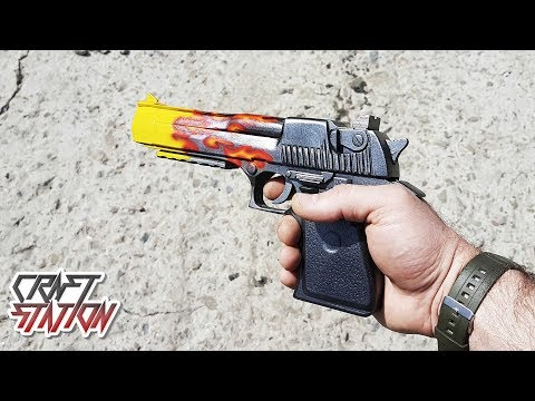How To Make Desert Eagle Blaze Deagle  From CS:GO DIY Free Templates
