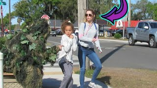 BUSHMAN PRANK ON LITTLE GIRL AND HOT MOM!