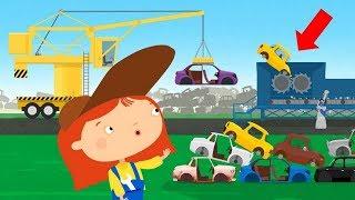 Doctor MacWheelie auf dem Schrottplatz. Zeichentrick für Kinder.