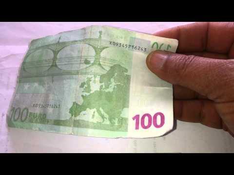 Attention des fausses billets de 100 euro