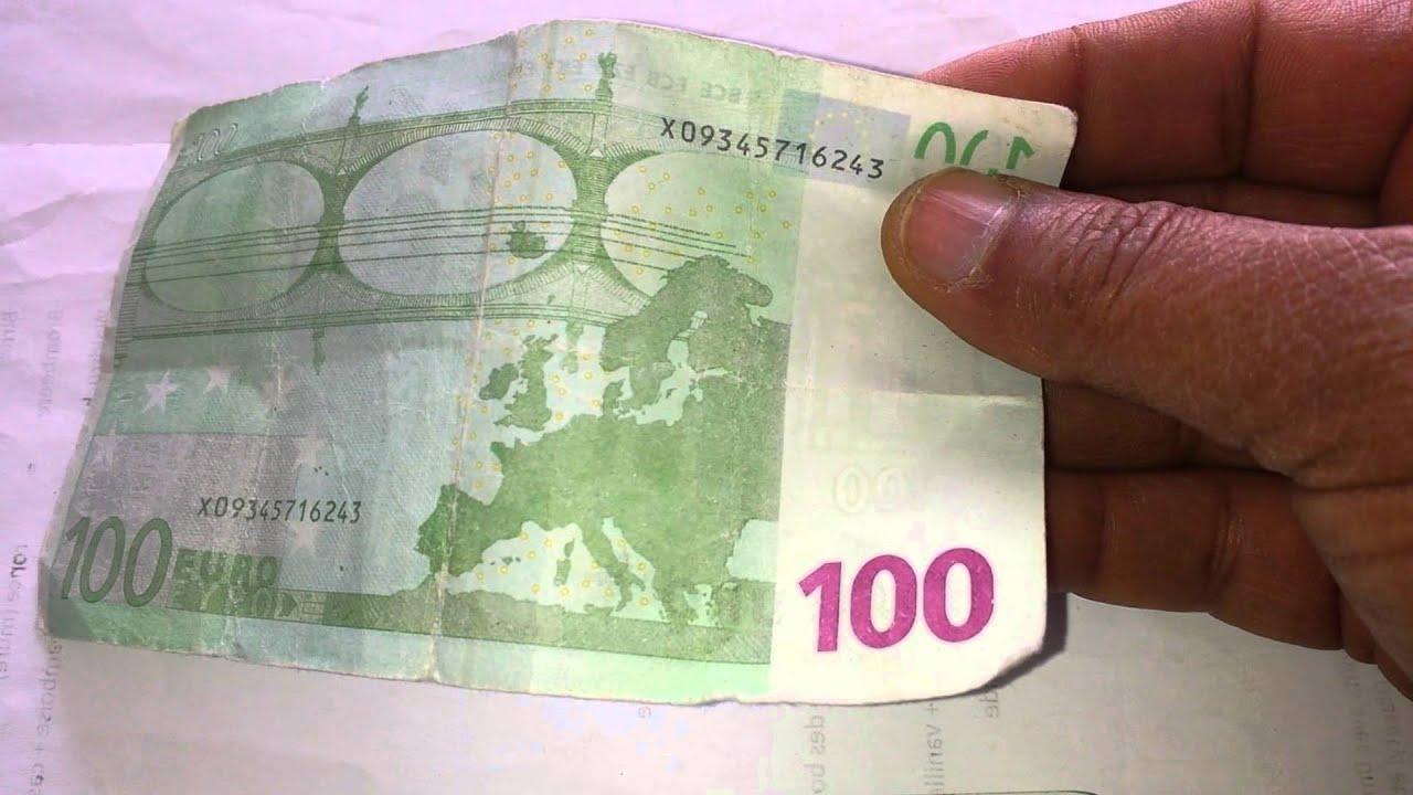 Attention Des Fausses Billets De 100 Euro Youtube