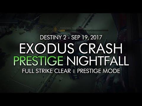 Destiny 2 - Prestige Nightfall: Exodus Crash - Full Strike Clear Gameplay (Week Three)