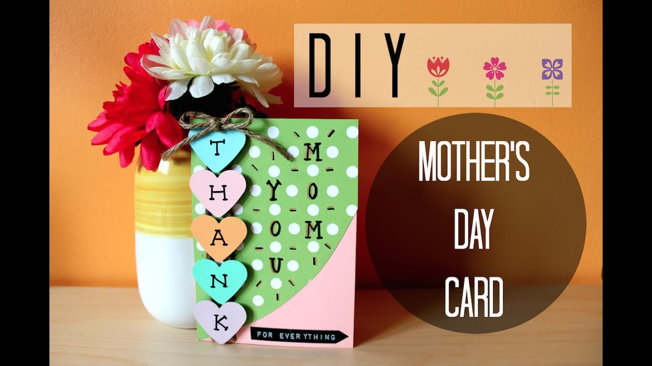 Diy Easy Mothers Day Card I Simple Cute Youtube