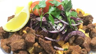 How to cook Liver in Turkish style? / Onion Salad / Ustadan Al Tarifi ( Take the Recipe from Chef)