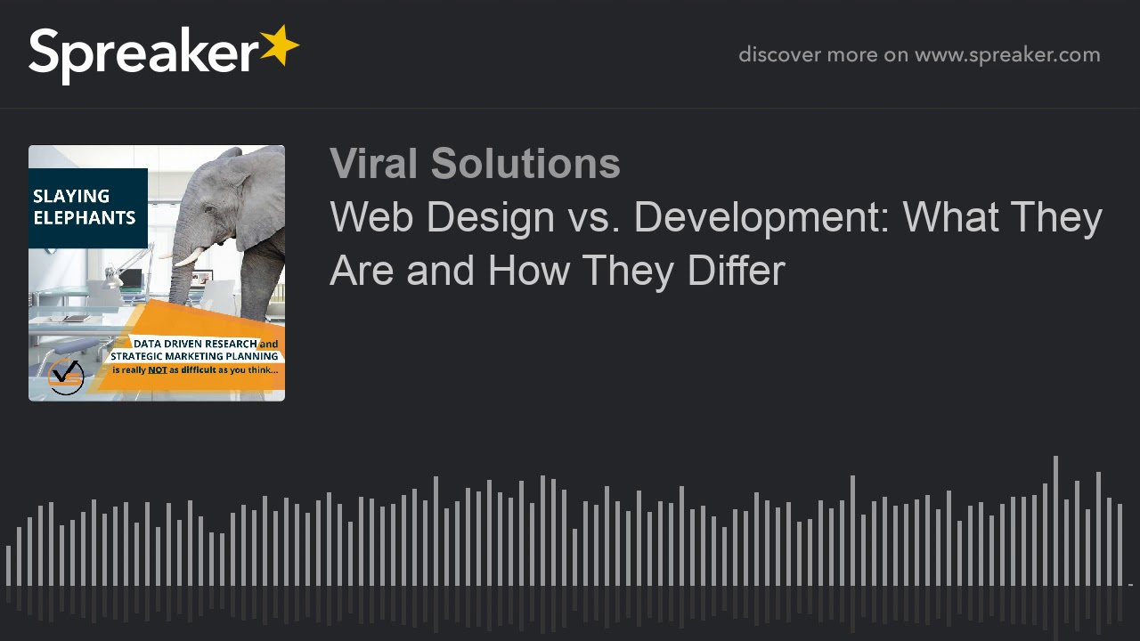 Web Design vs. Development: What They Are and How They Differ (made with Spreaker)