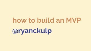 LIVE - Ryan builds a SaaS product from scratch