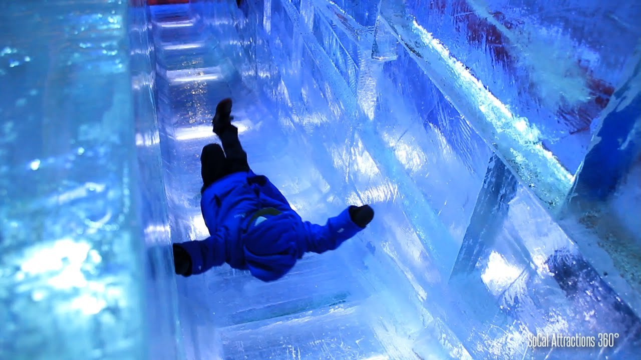 [HD] Sliding down an Ice Slide at CHILL 2014 at the Queen ...
