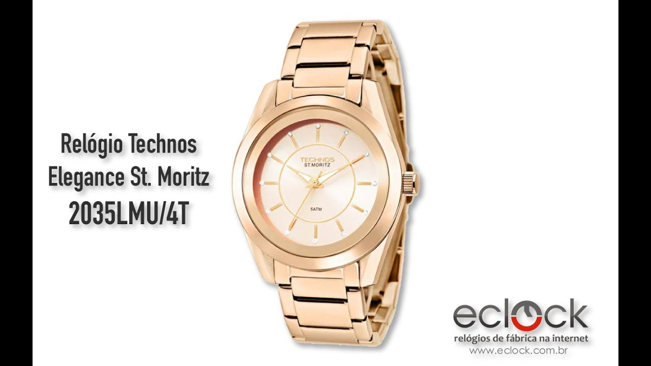 d8b9c14a6b8ce Relógio Technos Feminino Elegance St. Moritz 2035LMU 4T - Eclock ...