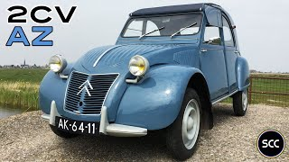 CITROËN 2CV / CITROEN 2 CV AZ 1959 - Modest Test Drive - Eend - Engine Sound | SCC TV