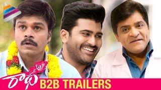 Radha Movie Back 2 Back Trailers | Sharwanand | Lavanya Tripathi | Aksha | #Radha | Telugu Filmnagar