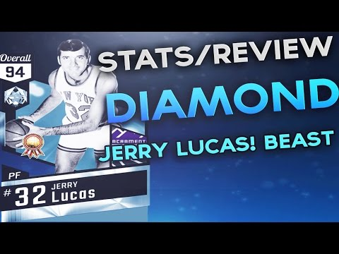 DIAMOND JERRY LUCAS STATS/REVIEW BEAST PULL NBA 2K17 MYTEAM BLACKTOP