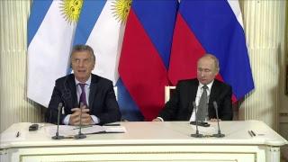 El presidente Mauricio Macri se reúne con el presidente Vladimir Putin