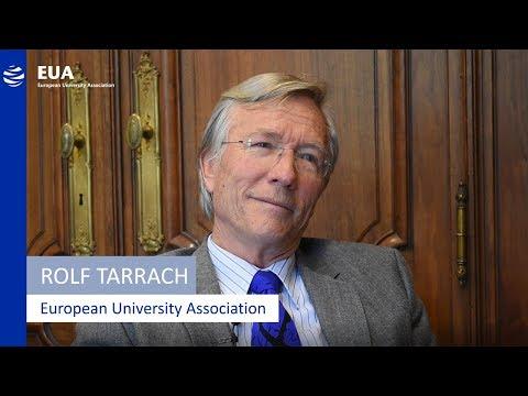 EUA President Rolf Tarrach introduces the European University Association