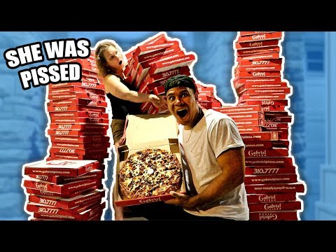 Thumbnail: ORDERING 200 GIANT PIZZAS TO MY MOMS HOUSE PRANK (SHE FREAKS OUT)