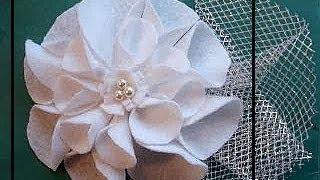 FELT FABRIC FLOWER # 8, high fashion style flower