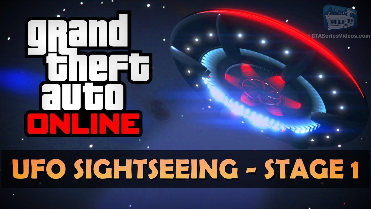 GTA Online Halloween Event - Sightseeing Alien UFO