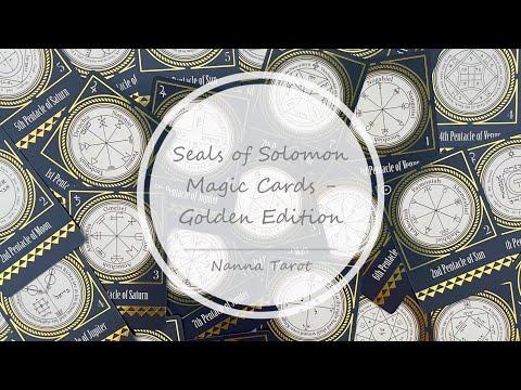 開箱  所羅門封印魔法卡 • Seals of Solomon Magic Cards - Golden Edition // Nanna Tarot