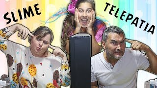 SLIME POR TELEPATIA ENTRE MÃE E PAI (TWIN TELEPATHY SLIME CHALLENGE)