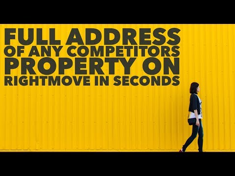 Rightmove - How To Find the Full Address of Any Resi Sales Property in Seconds