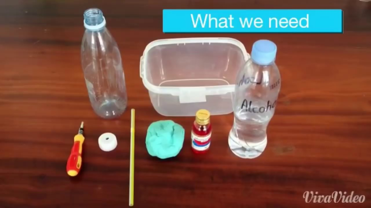 How to make HOMEMADE THERMOMETER - YouTube