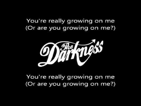 The Darkness   Growing on me karaoke