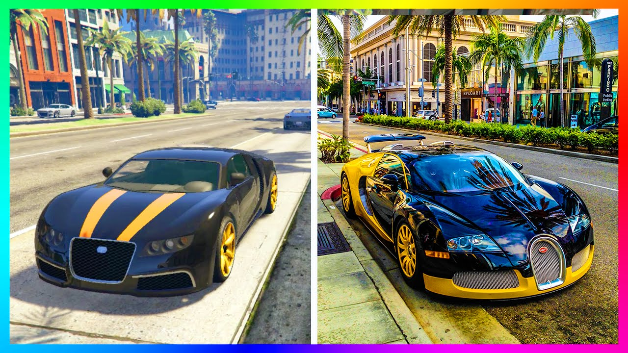 GTA 5 VS REAL LIFE COMPARISON HOW LOS SANTOS LOOKS VS