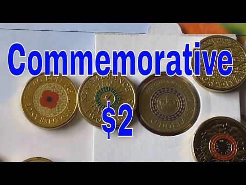 Australian $2 Coloured Coins 2012 To 2016