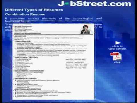 JobStreet\u0027s Career Guide Winning Resumes Part 1 - YouTube