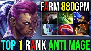 This is How Top 1 IMMORTAL RANK [Anti Mage] Ultimate Fast Farming 880GPM By IYD 7.18 Dota 2 FullGame