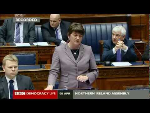 Northern Ireland - Foster says foreign workers benefit Belfast economy - 8 April 2014