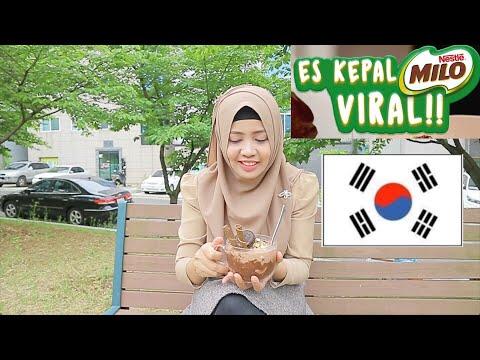 NYOBAIN ES KEPAL MILO VIRAL DI KOREA