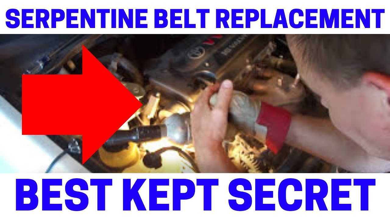 how to replace your serpentine drive belt the easy way youtube jpg 1280x720 2008 toyota rav4 [ 1280 x 720 Pixel ]