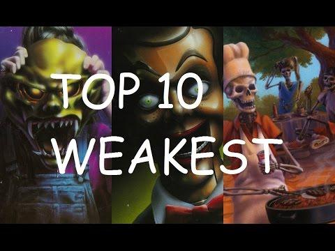 Top 10 WEAKEST Goosebumps Monsters / Villains