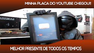 MINHA PLACA DO YOUTUBE CHEGOU!! SOMOS 30K