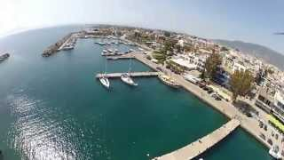 tbs rc quad in Kalamata flying over port arioxori and pefko messinias
