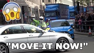 39 39 I DON 39 T CARE MOVE IT NOW Officer SHOUTS as Mercedes BLOCKS Police in London