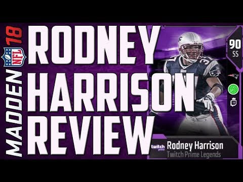 HOW GOOD IS FREE TWITCH PRIME RODNEY HARRISON? MUT 18 CARD REVIEW