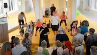 Flash mob ved indvielse af DGI Huset Aabybro 20-05-14