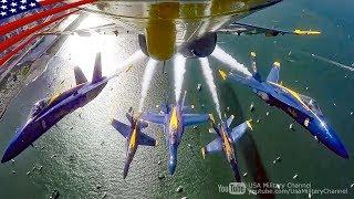 【超絶テクニック】米海軍ブルーエンジェルスのアクロバット飛行