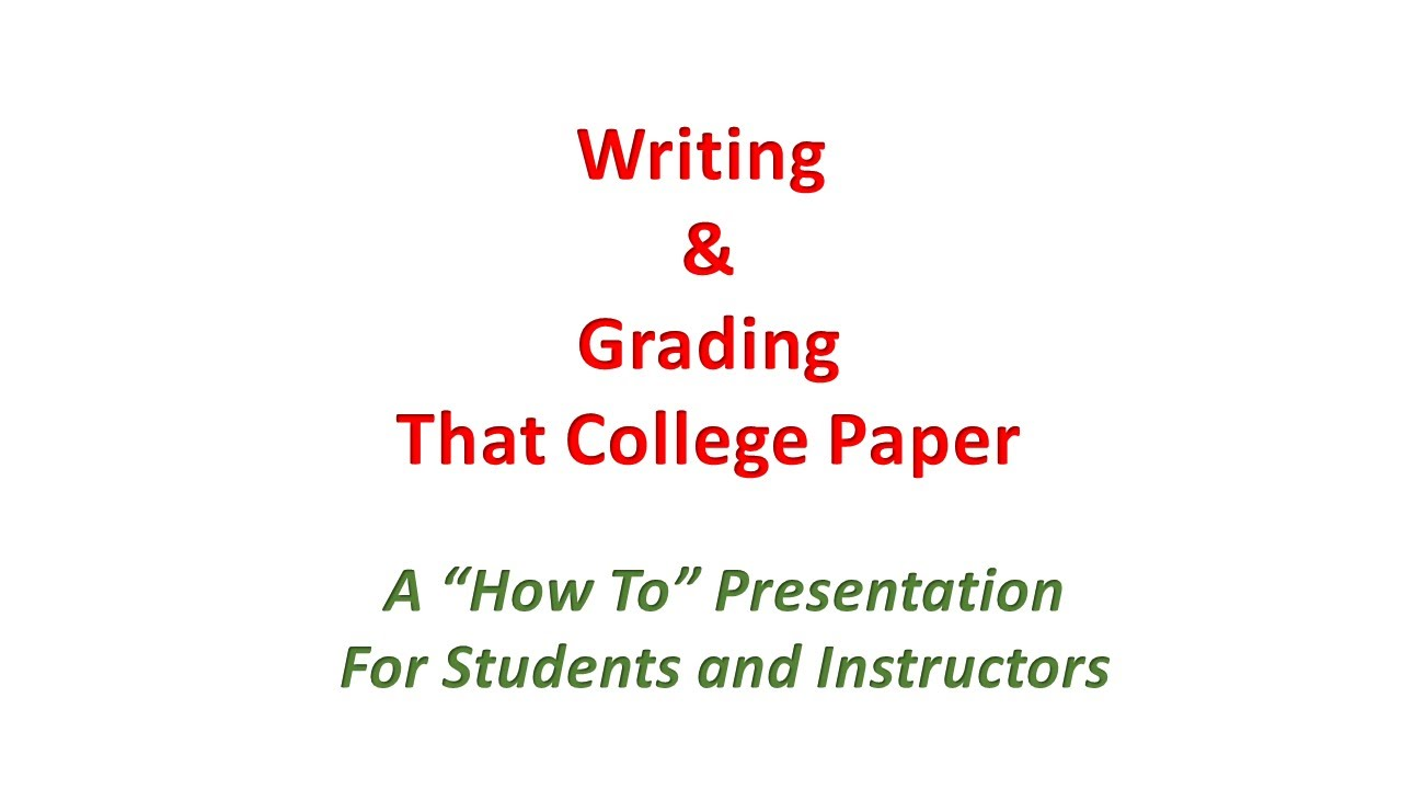 grading college papers For an app specifically designed for grading essays, try essay grader the standout feature is the wide variety of stock comments, including praise, grammar and style critiques, and organization and documentation notes it comes loaded with or you can import your own customized database of your own patented.